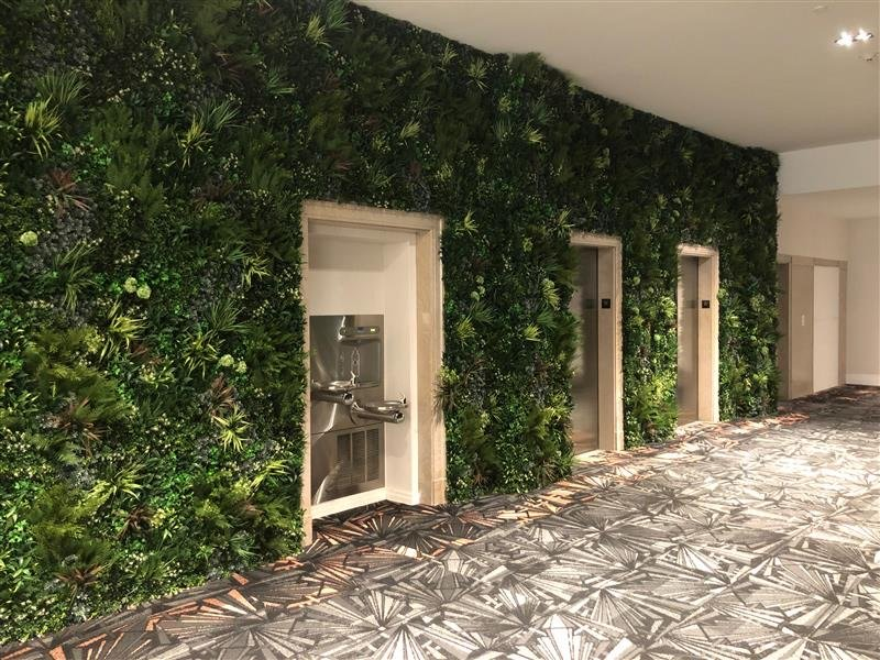 Seamless vertical garden look with green wall panels in Philadelphia PA